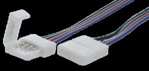 Коннектор для ленты RGB для подключения к БП (ширина 10 мм,длина провода 15 см )
